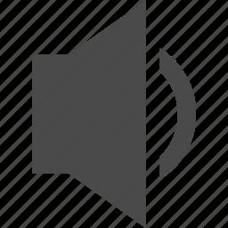 arrow, audio, down, music, speaker, volume icon