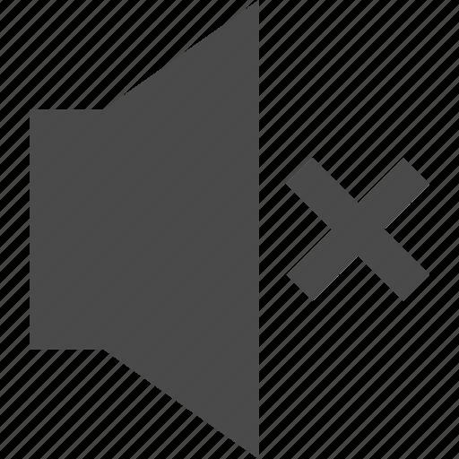 audio, multimedia, music, off, sound, speaker, volume icon