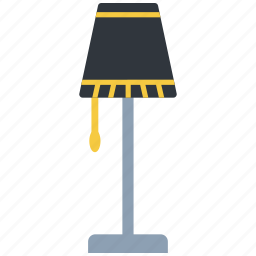 desk, electric, electricity, furniture, lamp, light icon