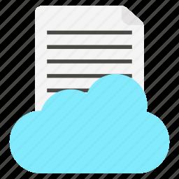 cloud, paper, social, sound icon