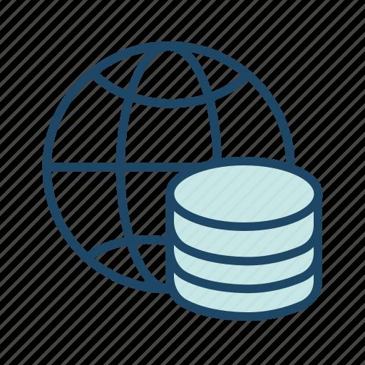 bigdata, global server, global storage, hosting server, main server icon