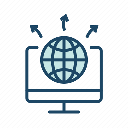 global comminication, internet, network icon