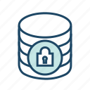 data center, database security, locked, protected database