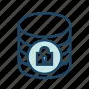 data center, database security, locked, protected database