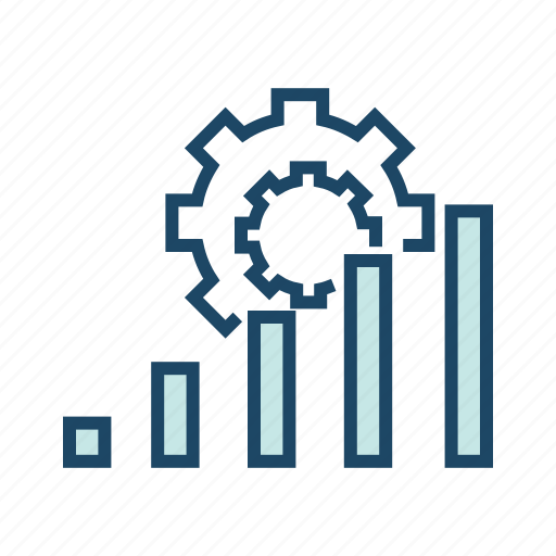 bar chart, data analytics, seo, statistics, utilization data icon