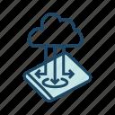 cloud storage, data transfer, database, mobile storage, online storage