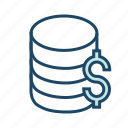bank server, banking database, bigdata, database server, financial database icon