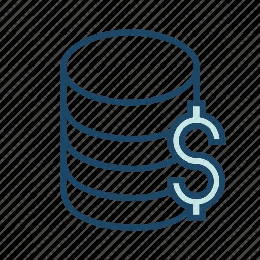 bank server, banking database, bigdata, database server, financial database icon