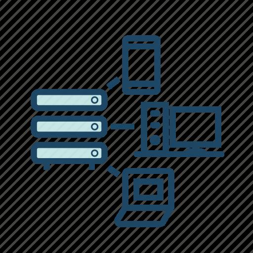 applicarion server, bigdata, data center, data communication, database, hosting server, network icon