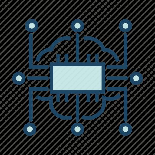 circuit, data flow, planning, schema, structure icon