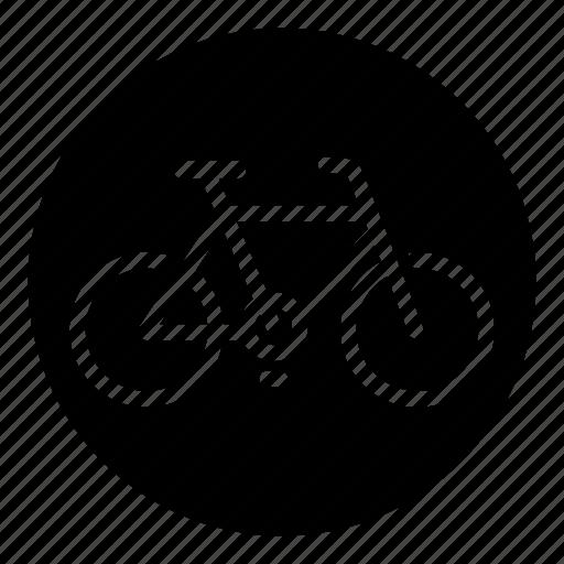 bicycle, bike, biking, circle, city bike, cycling, mountain bike icon