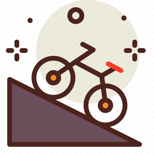 downhill, movement, outdoor, transport, travel icon