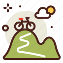 hill, movement, outdoor, transport, travel icon