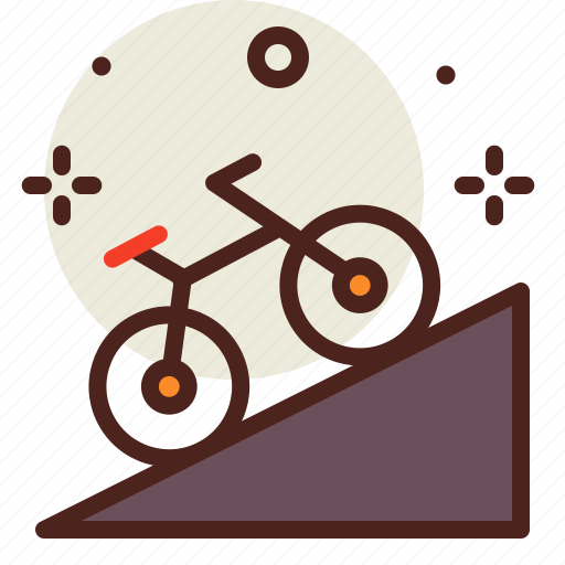 movement, outdoor, transport, travel, uphill icon