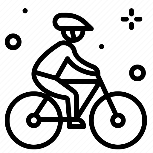 cyclist2, movement, outdoor, transport, travel icon