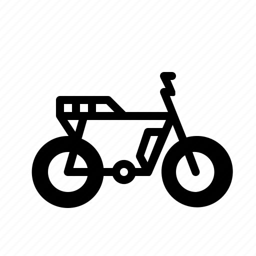 battery, bike, cycle, electric, electricity, scrambler, transportation icon