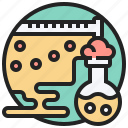 chemical, chemistry, experiment, laboratory, reaction icon