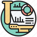 analysis, collection, data, record, research icon