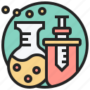 analyze, experiment, research, scientific, trial icon