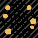 atom, electron, molecule, proton, science icon