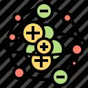 Atom Electron Molecule Proton Science Icon