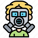 gas, inhale, mask, protection, toxic