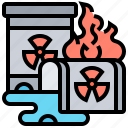contaminate, danger, hazardous, radiation, waste icon