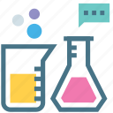 chemicals, chemistry, experiment, flask, identification, lab, test tube icon