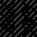 chromosome, dna, gene, genetics, helix, inheritance, reproduction icon
