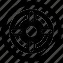 crosshair, dartboard, gun sight, sighting target, sniper target icon