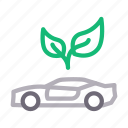 automobile, car, energy, green, vehicle icon