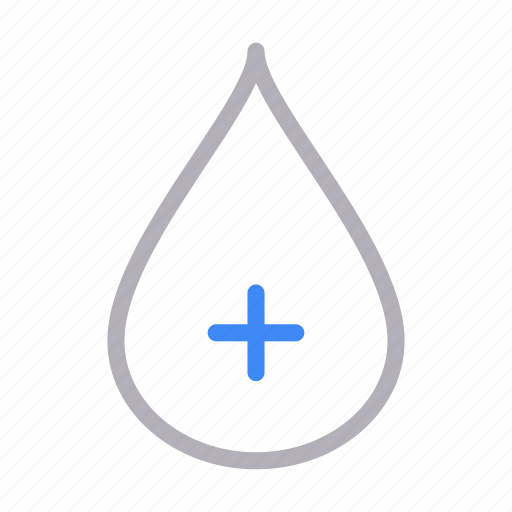 blood, drop, medical, science, water icon