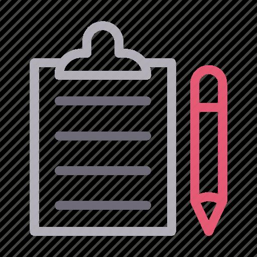 clipboard, create, document, edit, sheet icon
