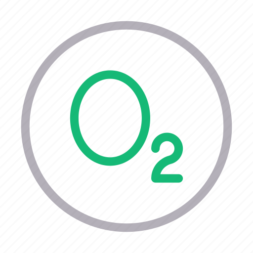 chemistry, formula, medical, o2, science icon