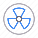 blade, blowing, fan, nuclear, radioactive icon