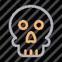 danger, face, medical, skeleton, skull icon