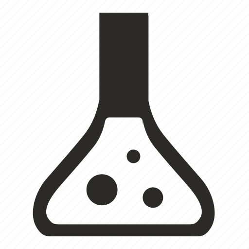 biology, bulb, fluid, science icon