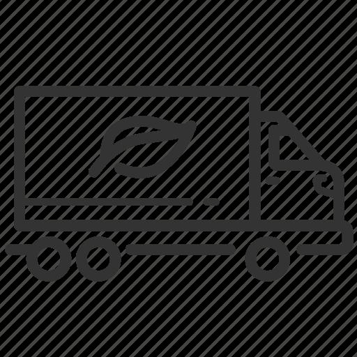 biomass, energy, organic, storable, transport, truck icon