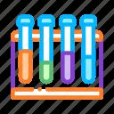 biomaterial, glass, rack, test, tube, tubes icon