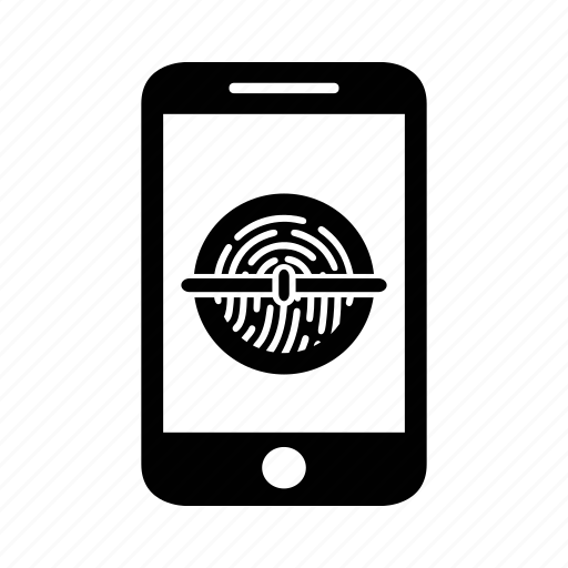 fingerprint, locked, match, privacy, scan, scanner, security icon