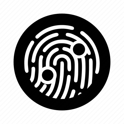 biometric, finger, fingerprint, scan, security, touch, trace icon