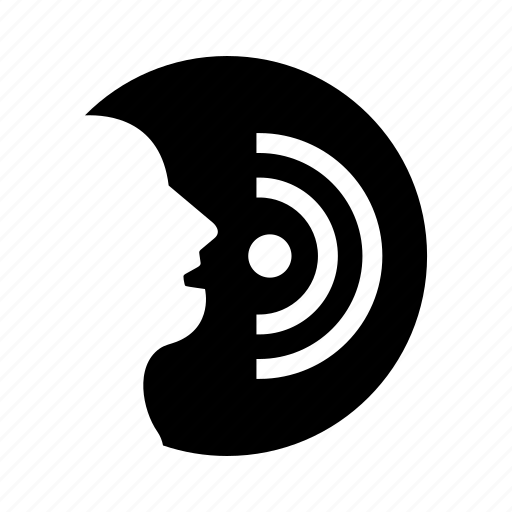 audio, biometric, recognition, scan, security, speak, voice icon