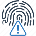 biometric, biometry, finger, fingerprint, identification, identity, trace icon