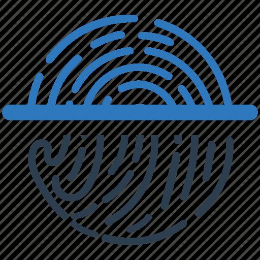 biometric, fingerprint, identification, identity, protection, scan, trace icon