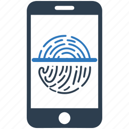 authorization, biometric identification, finger print, fingerprint, identity, mobile, trace icon