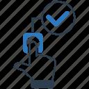 accept, fingerprint icon