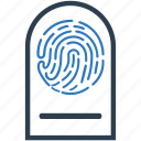 biometric, data, fingerprint, identity icon