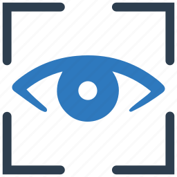 eye, retina, scan, scanner, view icon
