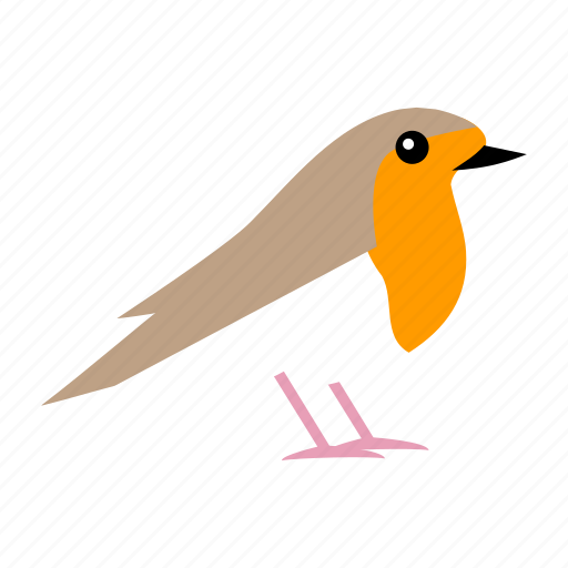 bird, christmas, robin icon