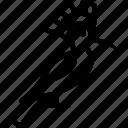 hoopoe, lark, upupa epops, wood icon